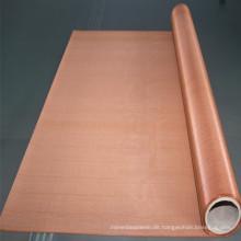 200 250 Mesh Red Copper Mesh Bildschirm für die Abschirmung von reinem Kupferdraht Netting Stock