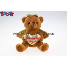Großhandelspreis Brown Plüsch Engel Bär Geschenk für Valentinstag Bos1114