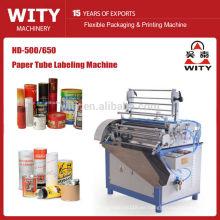 2015 Alto presicion modelo HD-500/650 auto máquina de etiquetado de tubo de papel