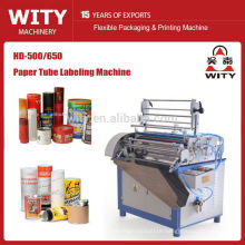 2015 High presicion model HD-500/650 semi auto Paper tube labeling machine