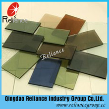 Verre teinté vert foncé de 5mm / verre coloré de flotteur pour la construction