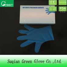Luva de laboratório azul Soft TPE