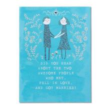 Warmes frisches blaues Blumen danke Karten-Blumen-Einladungs-Karten-Hochzeit