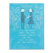 Cálido azul fresco floral Gracias tarjetas flores invitación tarjeta boda