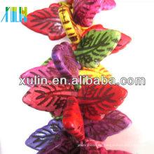 perlas de turquesa real hoja de colores