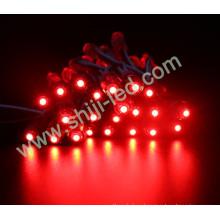 50pcs / cadena IP67 solo color amarillo rojo verde azul blanco 12mm llevó la luz de la secuencia del módulo