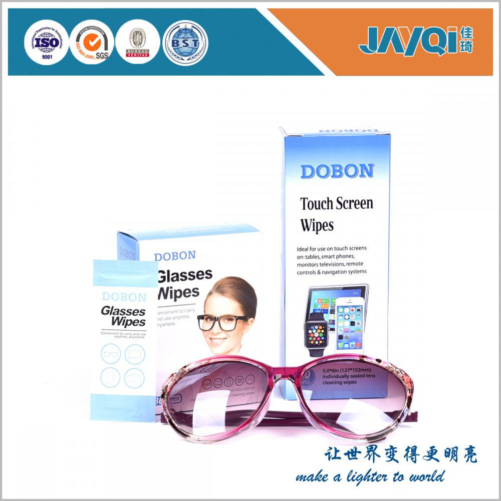 Soft Wet Strength Paper Glasses Cleaning Wipe
