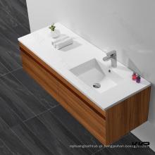 Lavatório de lavatório de pedra artificial, pias de banheiro vaidades