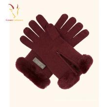 Gros hiver Mesdames en gros main gants en cachemire pleine doigts gants