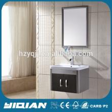 Cabinet de salle de bain en acier inoxydable à la vanité murale à la mode
