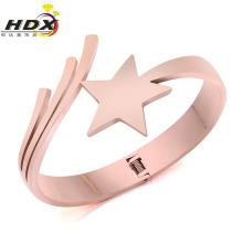 Moda jóias de aço inoxidável de cinco pontas estrela pulseira
