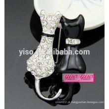 Broche de esmalte de cristal animal de moda doce