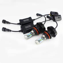 G7 9004 9007 4000lm 6500K PHI-ZES Fanless Led Car Headlight High Low Super White Beam Conversion Kit with Warranty