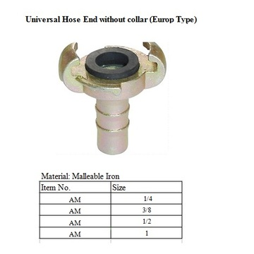 Universal Air Coupling Hose End tanpa kolar