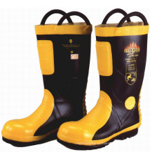 Fire resistant rubber safety fireman firefighter boots