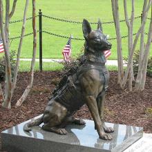 Estatua de perro de bronce de alta calidad del arte del metal para la venta