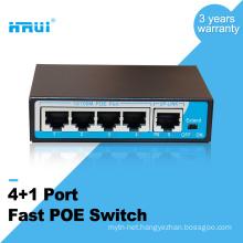 Total Power 48W 65W 4 Port Outdoor PTZ IP Camera PoE Switch 48V