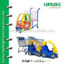 Детской супермаркет игрушечной тележки для покупок, тележка для супермаркетов, тележка для супермаркетов для малышей