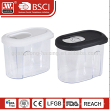 armazenamento transparente clara garrafa 3 peças comida da classe armazenamento conjunto de vasilha