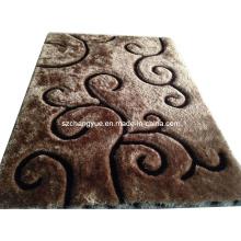 Poliéster de alta qualidade Modern Shaggy Carpets com efeitos 3D