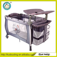 Comfortable baby playpen with big mosquito net