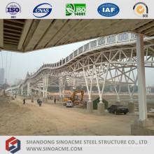 Estrutura de treliça de tubo de aço para ponte de aço