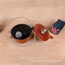 Hot sale stainless steel handle enamel tea kettle