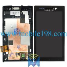 Affichage LCD et Digitizer à écran tactile avec boîtier avant pour Sony Xperia U St25I