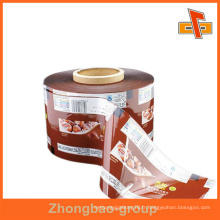 Imprimé à chaud en plastique PET enroulé en doublure en rouleau pour bouteille de Guangzhou Factory