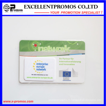 Nettoyeur d'écran autocollant en microfibre pour la vente de chiffons pour téléphone cellulaire (EP-C7184)