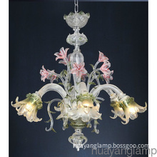 Handcrafted Hight Quality  Fancy Flower Glass Chandelier Lamp