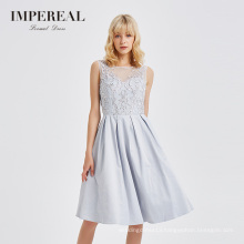 High quality embroidered beaded A line short summer party dress evening short dresses