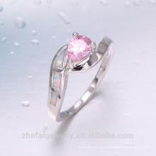 tanishq jóias de prata ródio pedra opala anel de belling