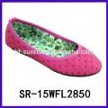 2015 heiße verkaufenmädchen flache Schuh-Anzeigenentwurfsentwerfer beschuht preiswerter Schuhentwurf