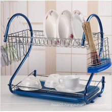 Colorful Metal Wire Dishes and Plates Storage Rack