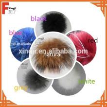 Высокое качество мех енота пом пом для шлема/одежды/брелок