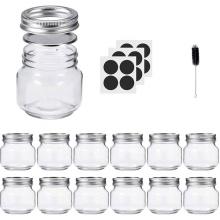 300ml 10oz Empty Clear Glass Mason Jar Food Packaging Storage Glass Jar with Lids for jam