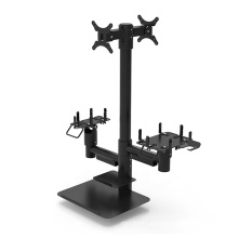 Multifunction anti theft pole mounting metal display pos stand tablet for Printer Card reader Scanner holder
