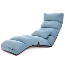 Sala de estar ajustável Legless Lie Sofá-cama único \ Material de tecido interior moderno de lazer confortável sofá estilo cadeira