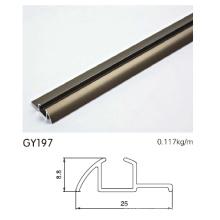 Perfil de alumínio anodizado perfil único para guarda-roupa