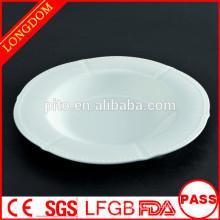 2015 New Design einzigartige Form Keramik / Porzellan Suppe Platte