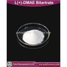 L (+) - DMAE Bitartrate em pó, grau cosmético / grau alimentar