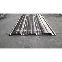Placa de chapa de suelo de acero galvanizado de metal de bajo precio para la venta, placa de acero de soporte de piso, panel de rodamiento de placa de rodamiento de piso