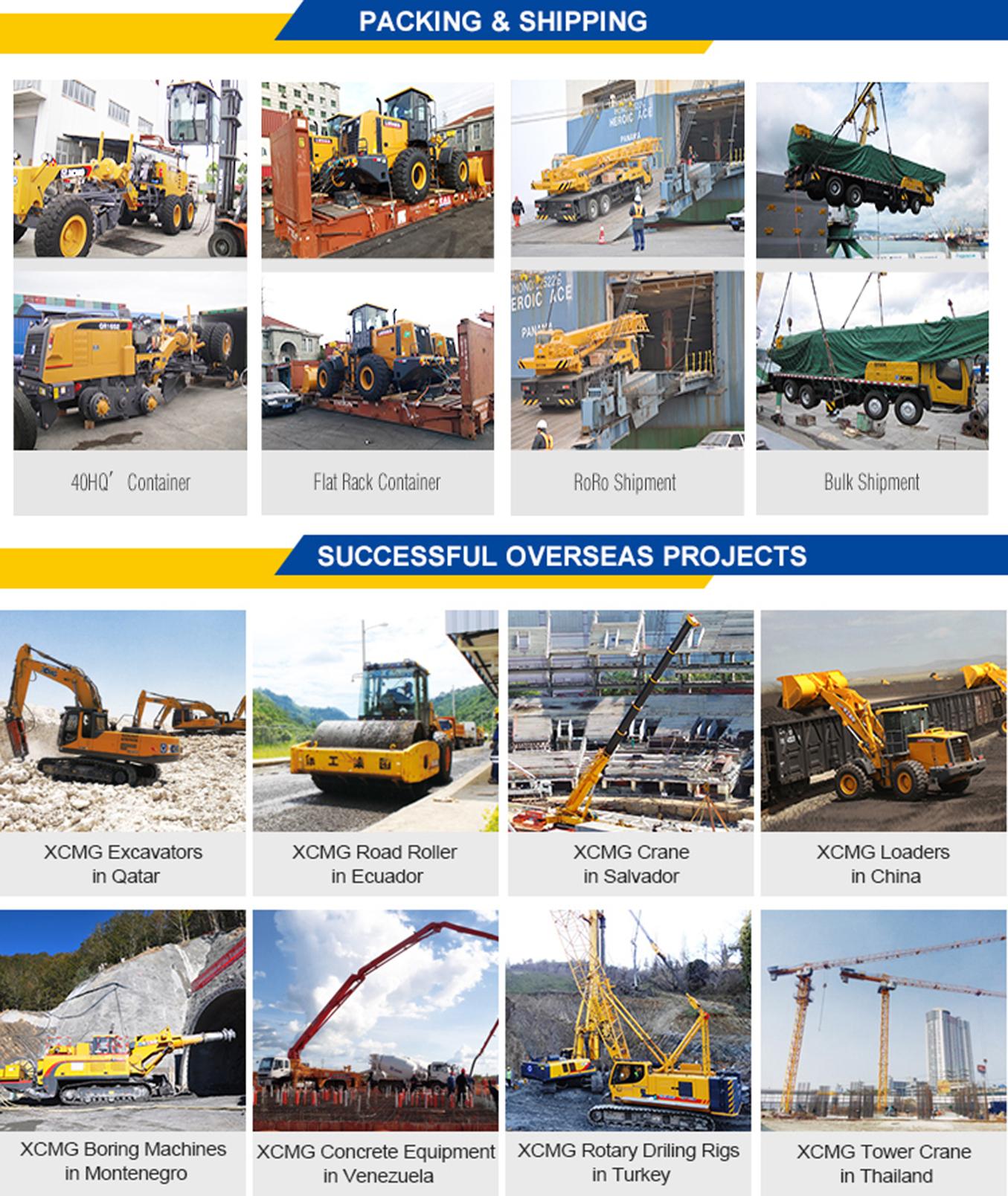 XCMG crane truck shipping