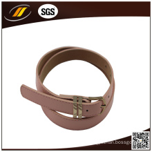Casual Narrow Girl Pink Leather Belt