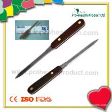 Abridor de letras de aço inoxidável com alça de madeira (pH4009A)