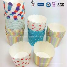 Одноразовые кекс упаковки бумажный стаканчик