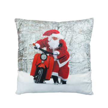 Santa Claus with motorbike cushion