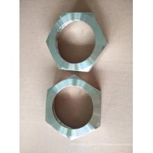 Union sanitaire en acier inoxydable avec écrou hexagonal Rjt Standard