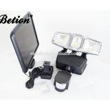 COB LED Triple Head Solar Powered Motion Sensor Security Light 12W COB motion sensor security garden light